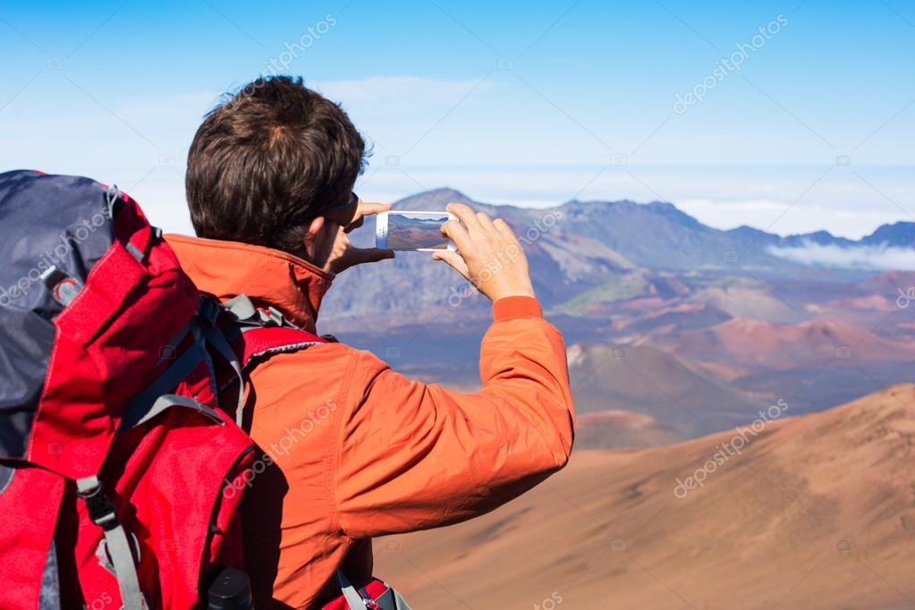 Man taking photo with phone
