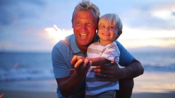 Otec a syn osvětlení ohňostroj