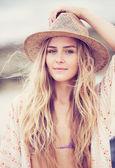 Fotografie schöne junge Mädchen, Vintage Mode-Farbe