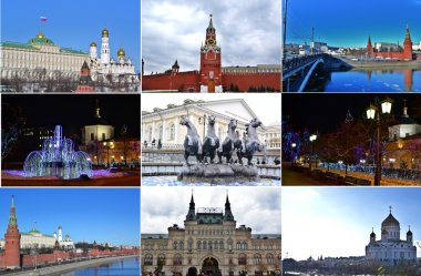 BEAUTIFUL MOSCOW.COLLAGE.