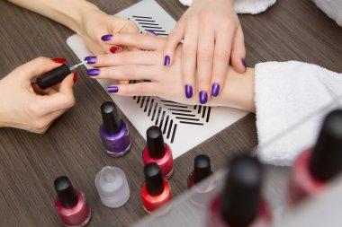 Women do manicure