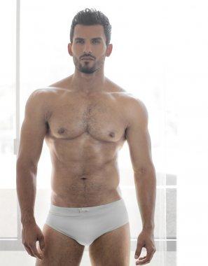 Man in underwear