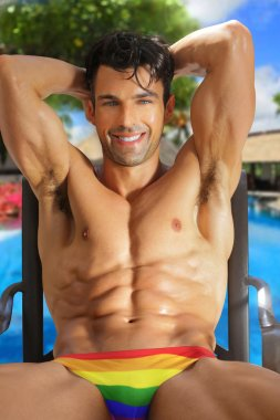 Sexy smiling hunk
