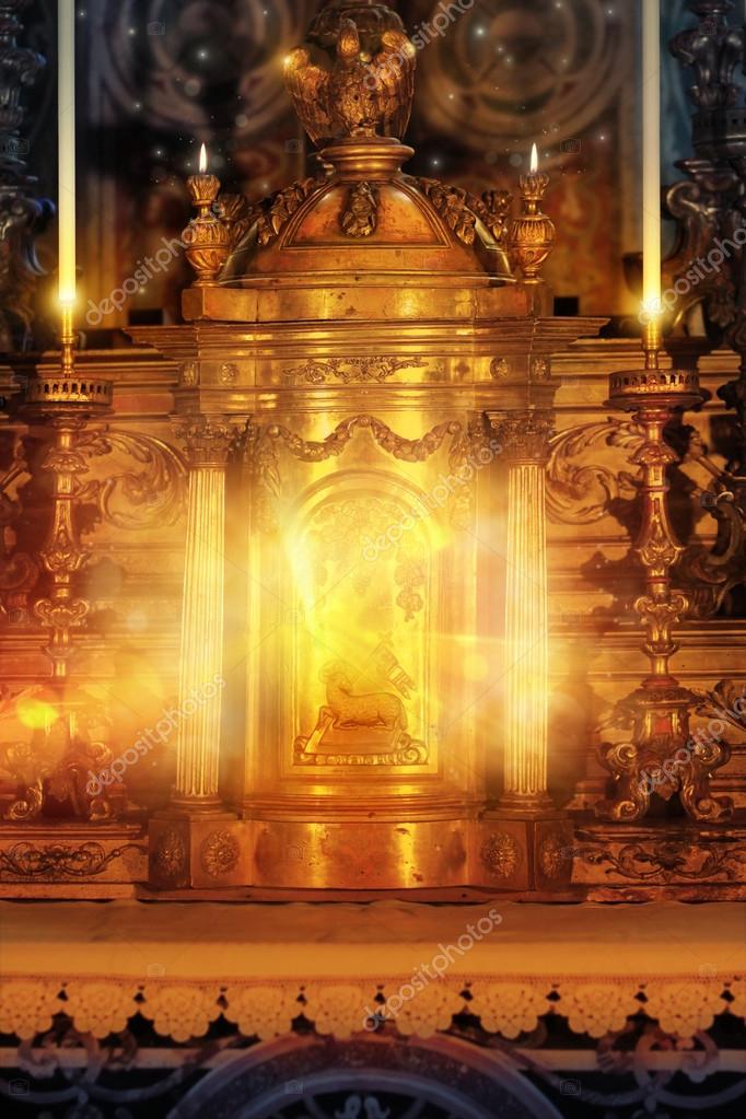 Glowing altar