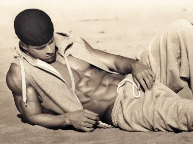 Male model with abs