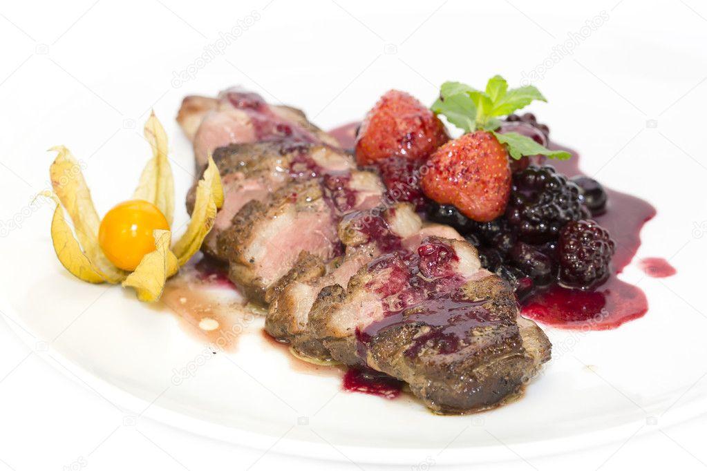 peking eend met saus van berry — stockfoto © lester120 #37406455