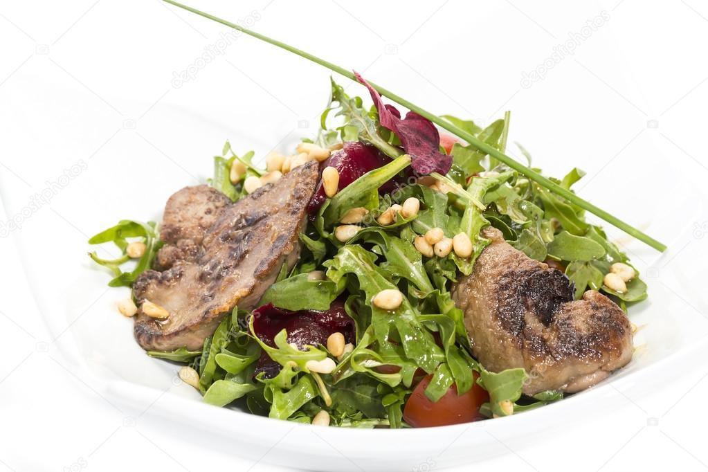 Rucola salat leber