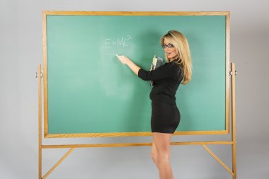 Blonde School Teach
