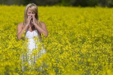 Model In Field Of Flowers