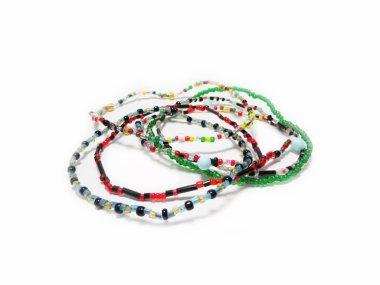 Bracelets, necklaces.