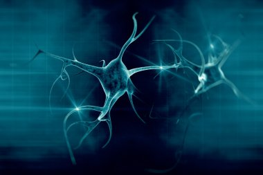 3D illustration of a neuron