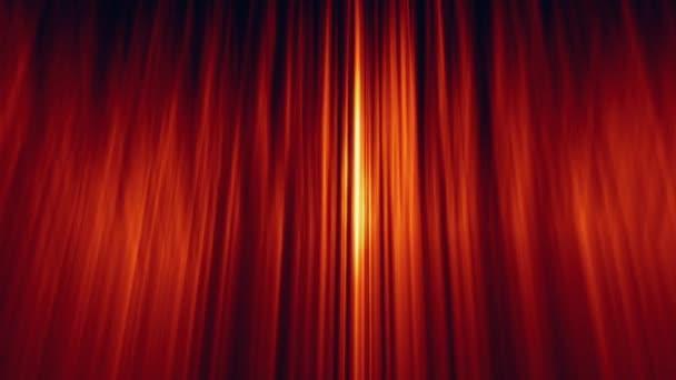 abstraktní pozadí smyčky s zlato červenými pruhy