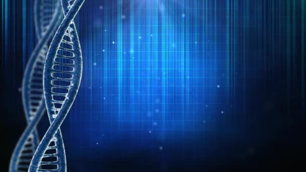 Background with DNA molecule and particulars
