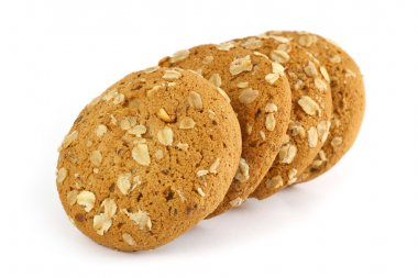 Oatmeal cookie isolated on white