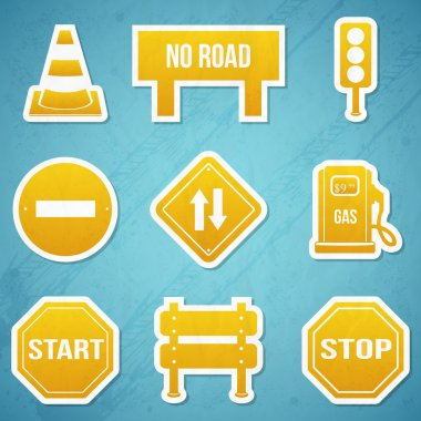 Road signs icon Set