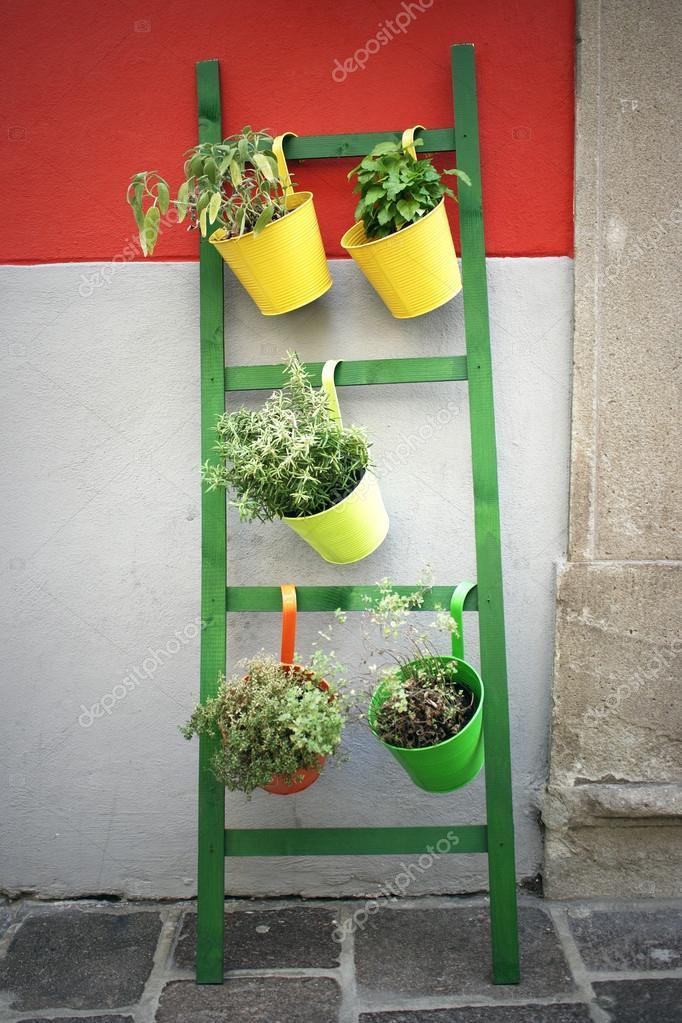 Vasi appesi scaletta foto stock valentinaphotos 12429665 for Vasi appesi