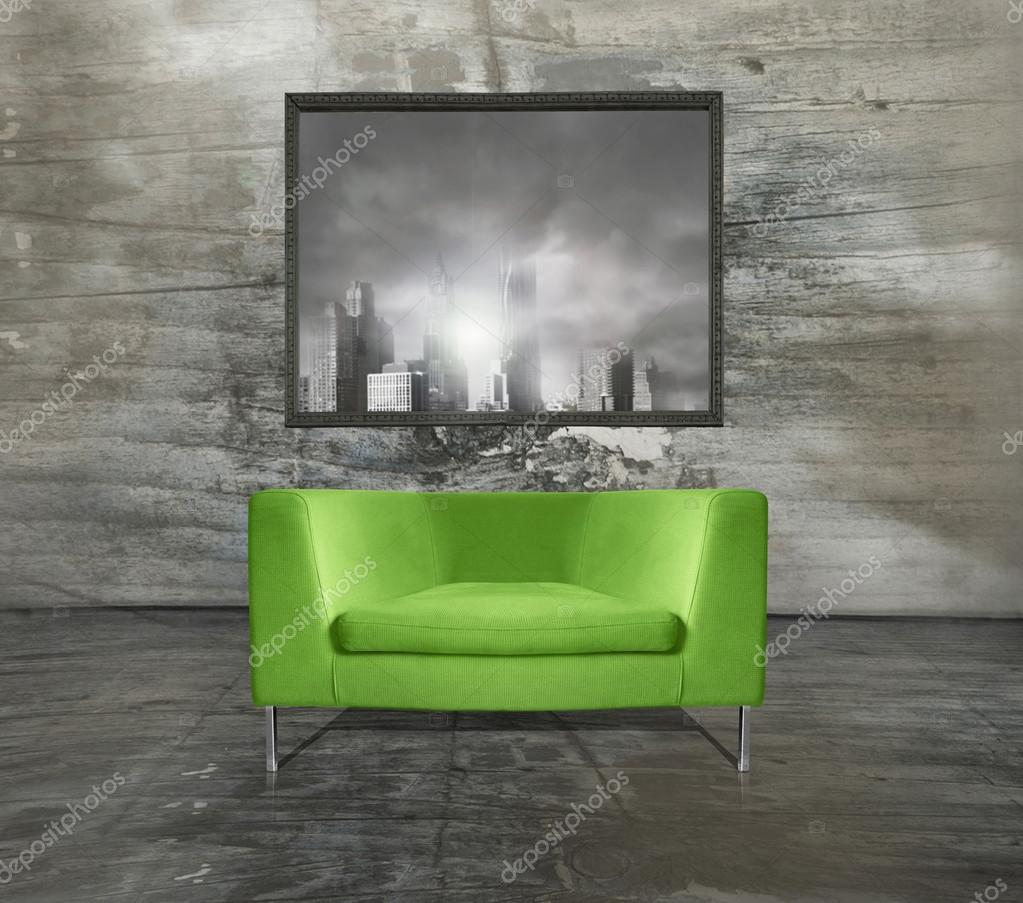 Poltrona Verde Acido.Poltrona Interior Foto Stock C Valentinaphotos 32558789