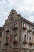 Fotografie Typisches deutsches Haus in Memmingen