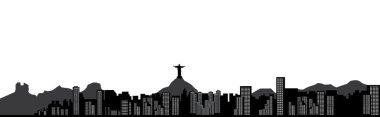 Rio brazil skyline clip art vector