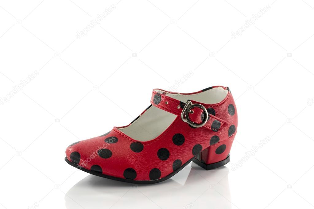 new styles ae914 c0b86 Rote und schwarze spanische Schuhe — Stockfoto © compuinfoto ...