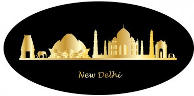 India city new delhi skyline