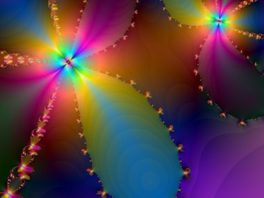 Abstract Dancing Flowers of Light Wallpaper Background