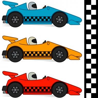 Racing Cars & Finishing Line