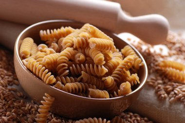 Whole wheat fusilli pasta