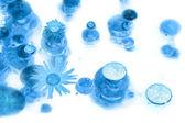 Bolle di ghiaccio con boccioli