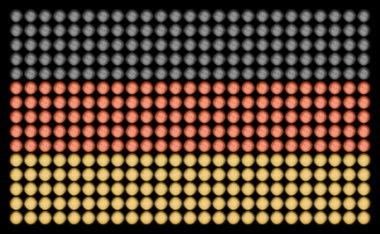 German Flag with Led Lights