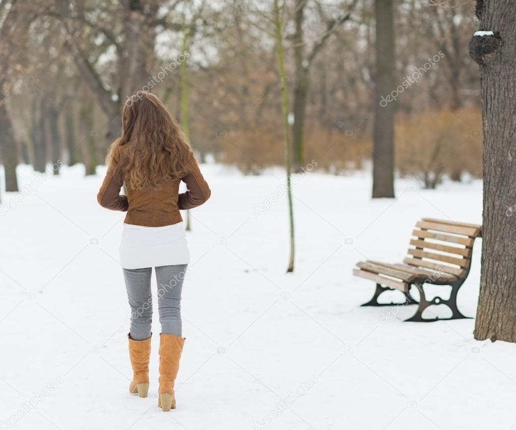 Woman in winter outdoors