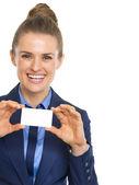 üzleti nő találat névjegykártya