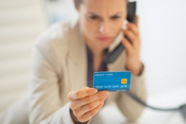 Businesswoman with credit card