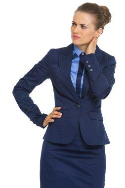 Doubting businesswoman