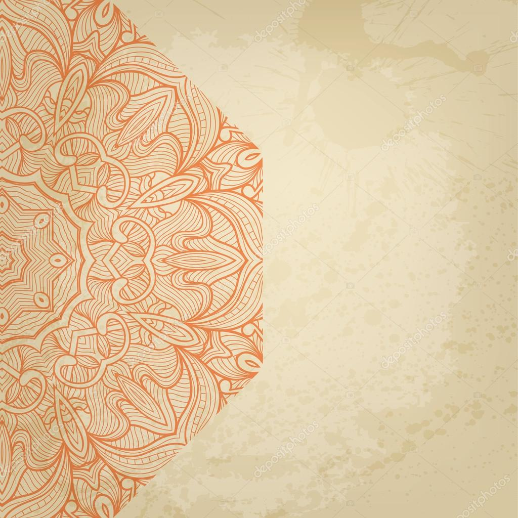 Abstract vector round ornament background for Your design