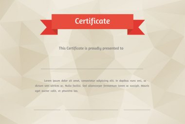 Vector certificate background