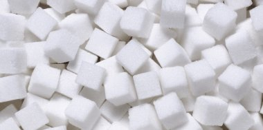white sugar in cubes texture background