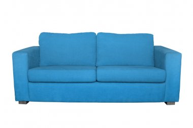 blue sofa isolated on white background