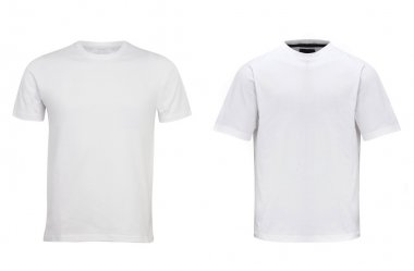 two different white T-shirt isolated on white
