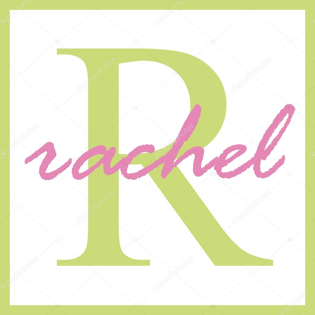rachel name monogram stock photo stayceeo 12200958