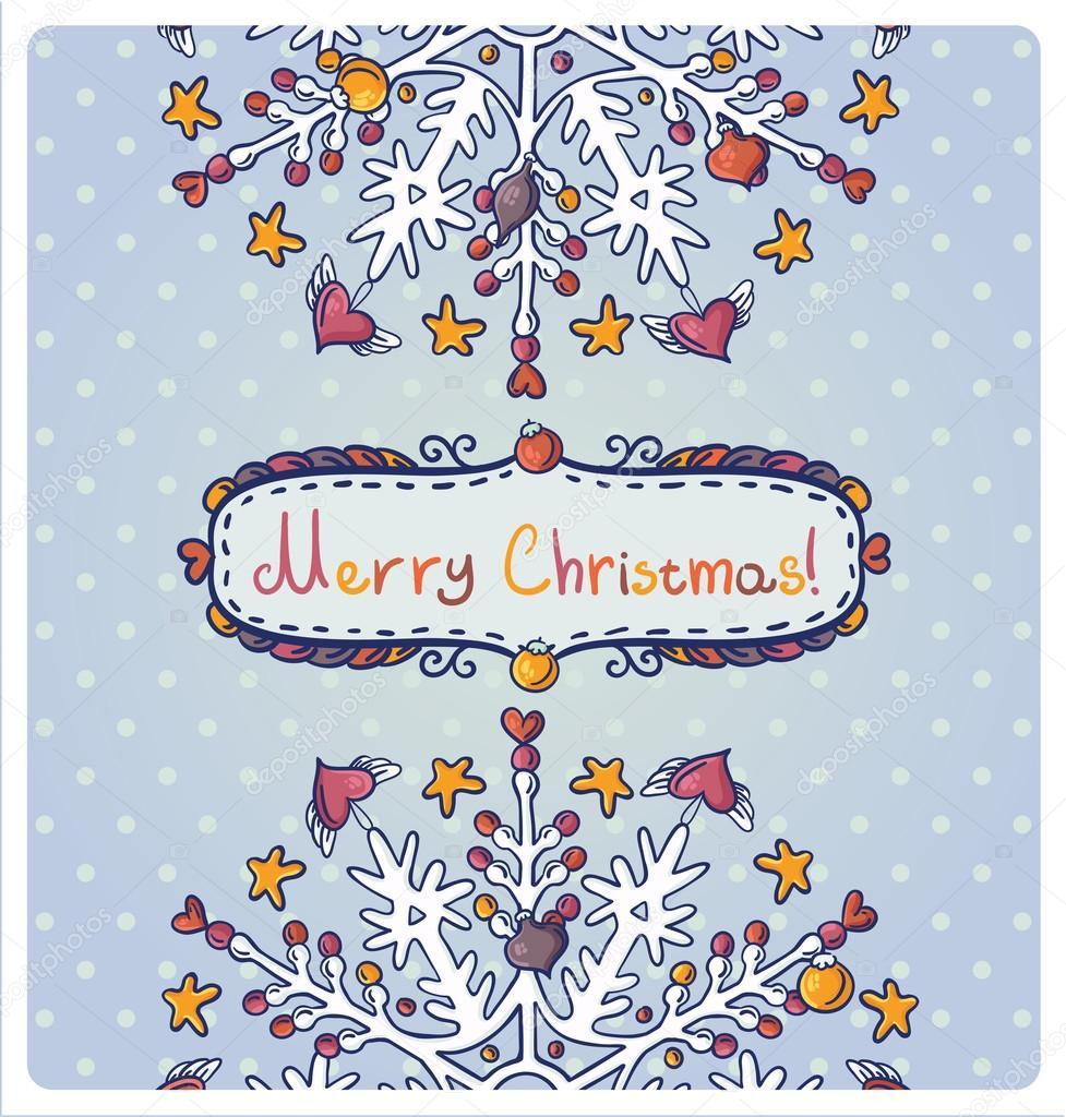 Tarjeta De Invitación Para Navidad Archivo Imágenes