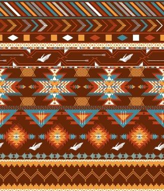 Aztecs seamless pattern with birds