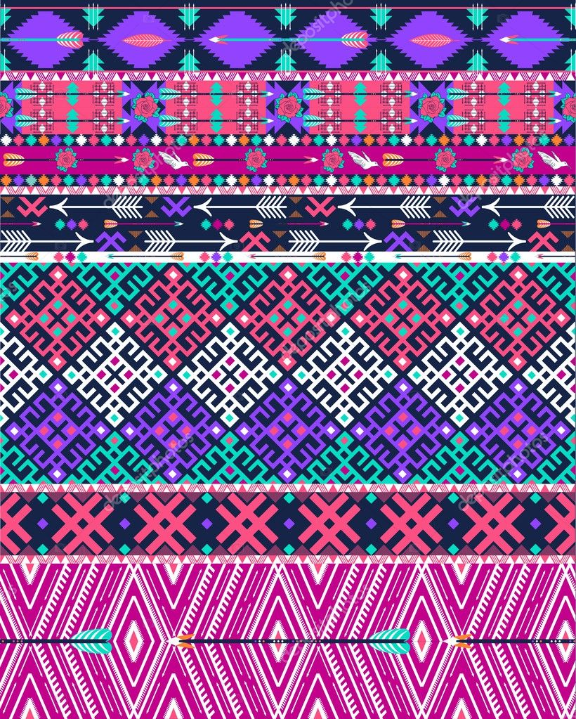 Wallpapers Aztec For Iphone Tribal Seamless Aztec Pattern