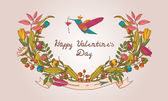Stylish floral card