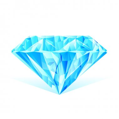 Diamond blue crystal
