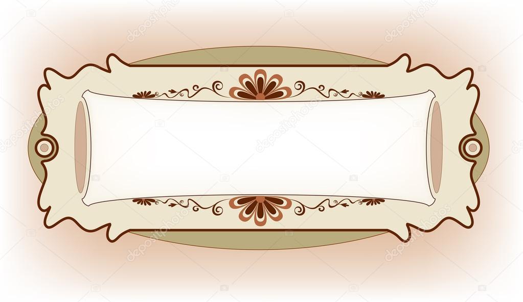 diseño vintage del marco para la tarjeta de felicitación — Vector de ...