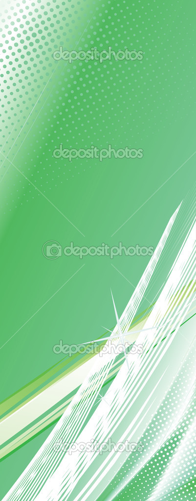 Greenl abstract lines