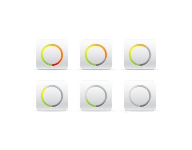 Circular progress bar clip art vector