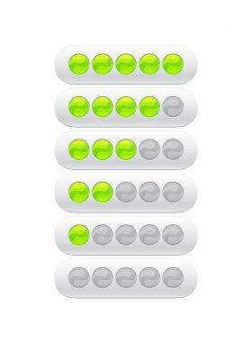 Progress bar from green circles clip art vector