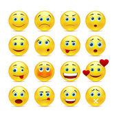 Fotografie Sammlung von Vektor-Smilies mit verschiedenen Emotionen